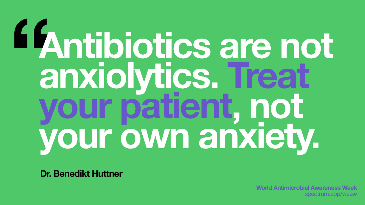 Antibiotics are not   anxiolytics. Treat your patient, not your own anxiety.