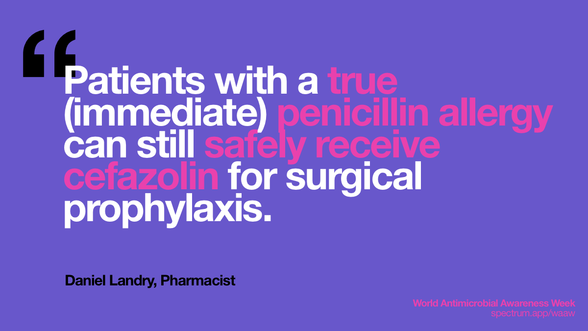 Patients with a   true (immediate) penicillin allergy can still safely receive cefazolin for   surgical prophylaxis.
