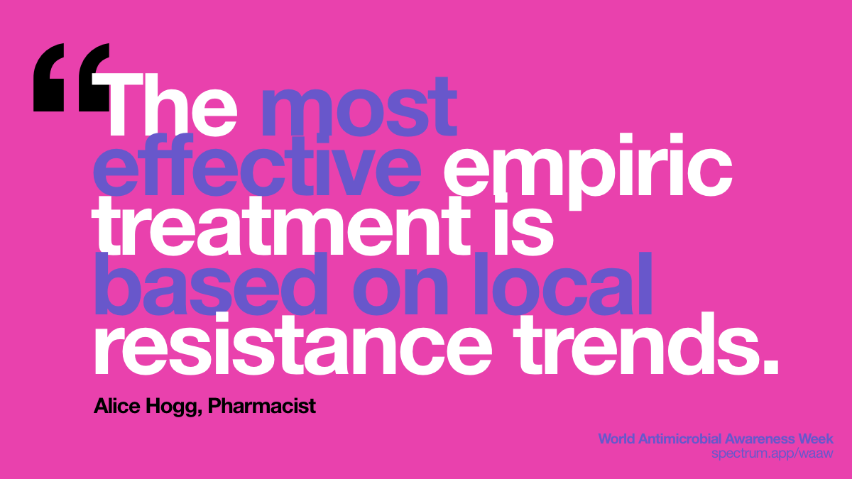 The most effective   empiric treatment is based on local resistance trends.