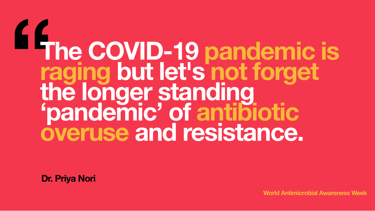 The COVID-19   pandemic is raging but let's not forget the longer standing 'pandemic' of   antibiotic overuse and resistance.