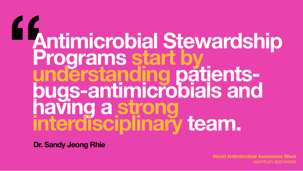 Antimicrobial   Stewardship Programs start by understanding patients-bugs-antimicrobials and   having a strong interdisciplinary team.